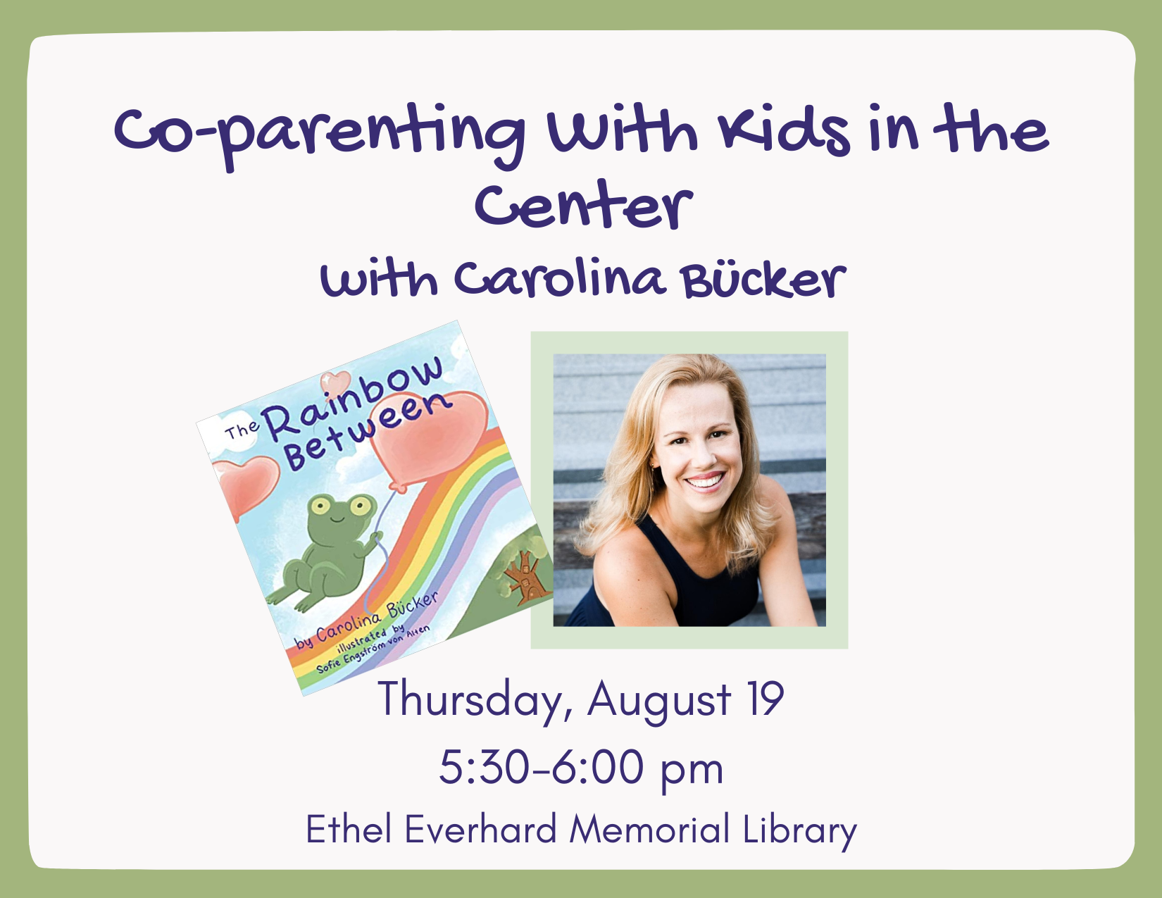 Co-Parenting With Kids in the Center | August 19, 5:30 pm