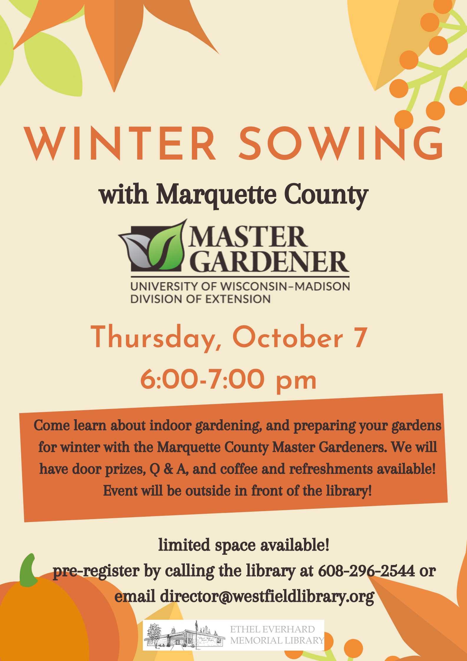 winter sowing poster