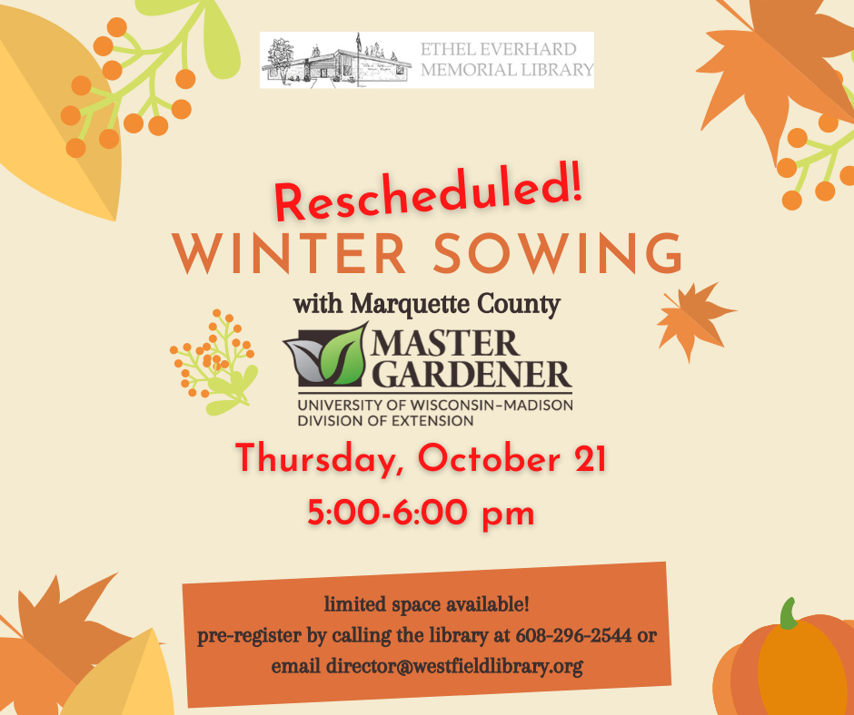 *RESCHEDULED* Winter Sowing with Master Gardeners